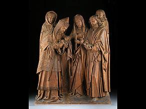 Detail images:  Großes Holzrelief mit gotischen Stil
