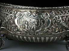 Detail images: Silberschale, als Geschenk für seine Majestät den Prinzen von Wales im März 1881