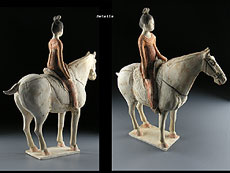 Detail images: Tang-Pferd mit Reiterin