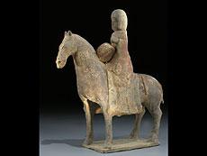 Detail images: Pferd und Reiter der Wei-Dynastie