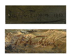 Detail images: Gerard Joseph Adrian van Luppen und H. Koekkoek