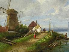 Detail images: Charles Henry Joseph Leickert 1818 Brüssel - 1907 Mainz
