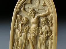 Detail images: Gotisches Elfenbeinrelief