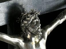 Detail images: Großes Cruzifix mit Silber-Corpus Christi