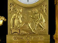 Detail images: Feuervergoldete französische Kaminuhr von Michelez, Paris