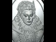 Detail images: Bergkristall-Schliff-Portrait der Herzogin Anna von Bayern (1572 - 1616)