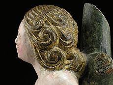 Detail images: Schnitzfigur eines Heiligen Sebastian