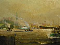 Detail images: H. Kuhlmann Hamburger Maler des 19./20. Jahrhunderts