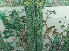 Detail images: Großer chinesischer Famille Verte-Cachepot