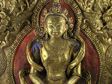 Detail images: Tibetanische Buddha-Figurengruppe