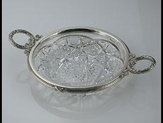 Detail images: Kristallschale mit Silbermontierung von Fabergé