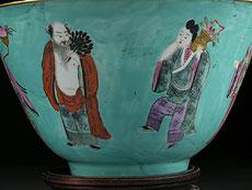Detail images: Paar große Porzellanschalen