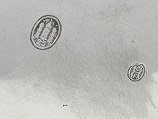 Detail images: Silberne Kaffeekanne in barocker Form