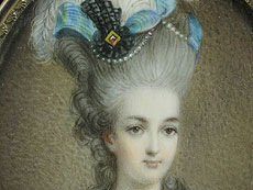 Detail images: Miniaturportrait der französischen Königin Marie Antoinette nach dem großformatigen