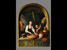 Detailabbildung: Gerrit Dou 1613 - 1675 KÖCHIN AM FENSTER