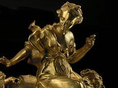 """Detail images: Französische Kartelluhr des 19. Jahrhunderts von """"Goudin a Paris"""""""