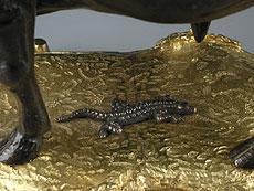Detail images: Französische Kaminuhr in Bronze