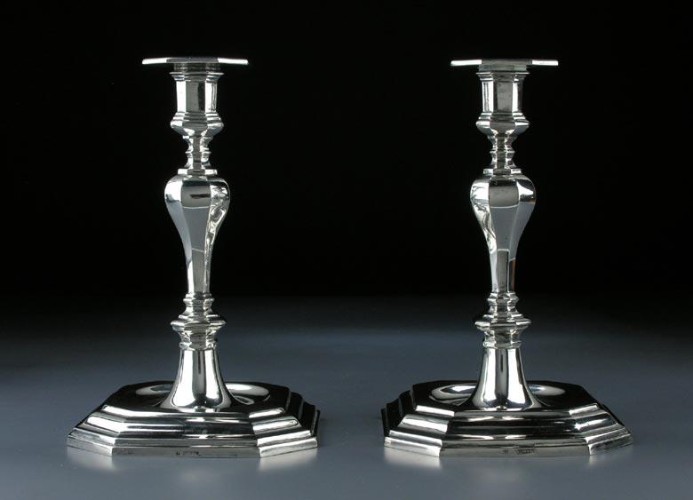 Paar Silberkerzenstöcke