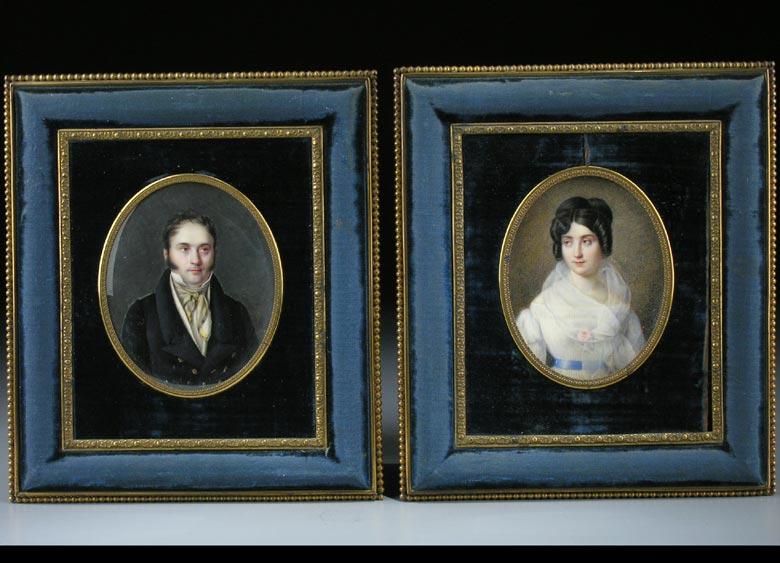 Chretien Gournay, Miniaturenmaler des 19. Jahrhunderts, tätig um 1824 (Abb. rechts)