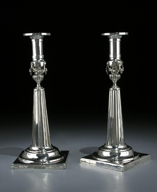 Paar Empire-Silberleuchter