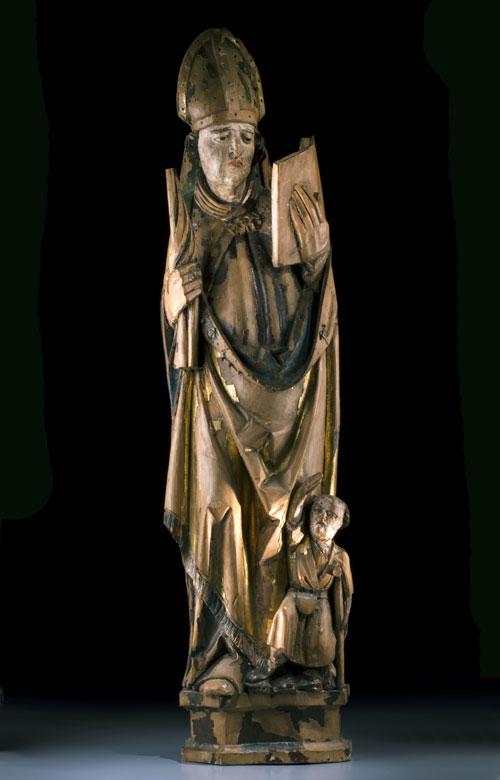 Schnitzfigur des Heiligen Martin