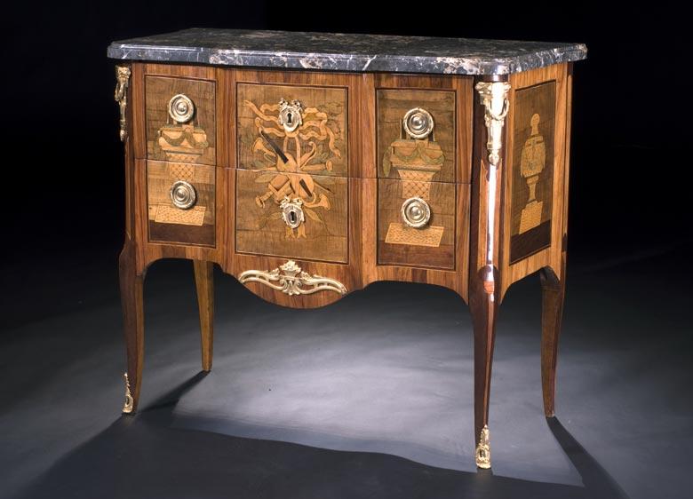 Franzosische Kommode In Transitionsstil Hampel Fine Art Auctions