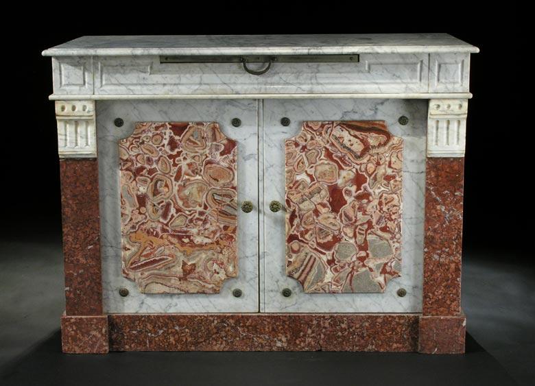 Speisesalon-Kredenzschrank in Marmor
