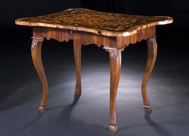 Fränkischer Rokoko Spieltisch