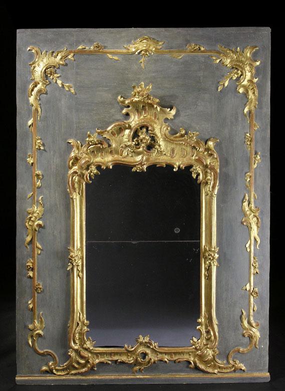 Spiegel-Trumeau nach dem Entwurf von François Cuvillée d.Ä. (1695 - 1768)