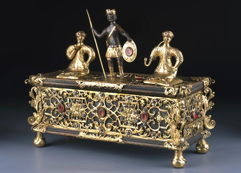Prächtig gearbeitetes Augsburger Schreibzeug um 1720
