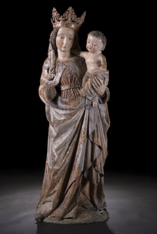 Madonna aus der Werkstatt des Seeoner Meisters, 15. Jahrhundert
