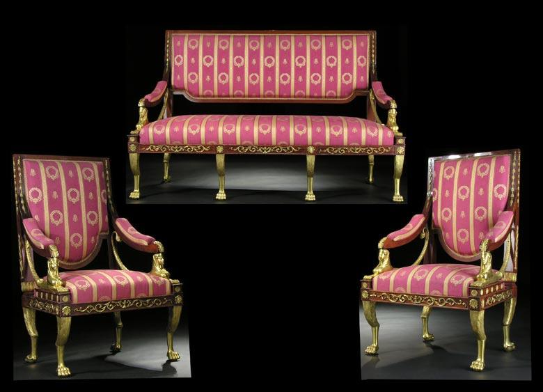 Klassizistische Salon-Sitzgruppe