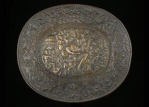 Detail images:  Reliefplatte mit dem Kampf zwischen David und Goliath