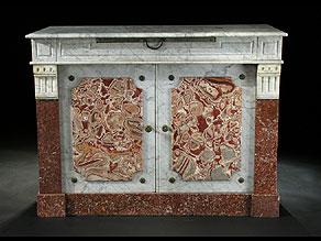 Detail images:  Speisesalon-Kredenzschrank in Marmor