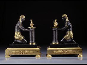 Detail images:  Paar figürliche Tischkerzenhalter