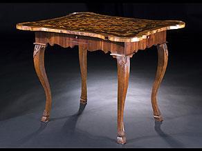 Detail images:  Fränkischer Rokoko Spieltisch