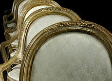 Detail images: Acht venezianische Armlehnstühle