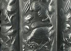 Detail images: Seltene Dresdener Zinnkanne mit Schraubdeckel