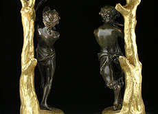 Detail images: Paar figürlich gestaltete Girandolen
