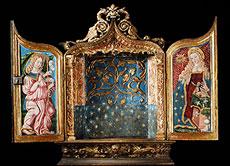 Detail images: Spanischer Flügel-Schreinaltar des 16. Jahrhunderts