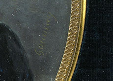 Detailabbildung: Chretien Gournay, Miniaturenmaler des 19. Jahrhunderts, tätig um 1824 (Abb. rechts)