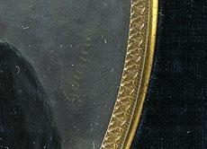 Detail images: Chretien Gournay, Miniaturenmaler des 19. Jahrhunderts, tätig um 1824 (Abb. rechts)