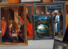 Detailabbildung: Jan Brueghel der Ältere 1568 Brüssel - 1625 Antwerpen und Hieronymus Francken der Jüngere 1578 - 1623 Antwerpen
