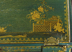 Detail images: Chinoiserie-Damensekretär