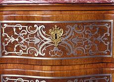 Detail images: Régence-Kommode mit Zinn-Intarsien