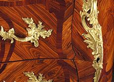"Detail images: Französische Louis XV Kommode, gestempelt ""Lele"""
