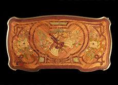 Detail images: Seltener, signierter Damenschreibtisch um 1760