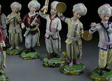 Detail images: Porzellanfigurengruppe Türkische Musikkappelle