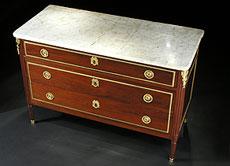 Detail images: Französische Louis XVI-Kommode, signiert Schey