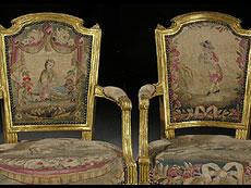 Detail images: Französische Louis XVI-Sitzgarnitur, signiert A. GAILLIARD